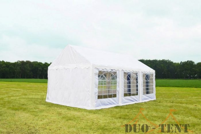 Partytent 5x6 Classic brandvertragend PVC - Wit
