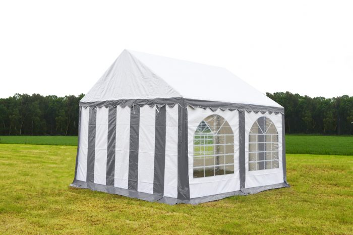 Partytent 3x3 Premium brandvertragend PVC - Grijs / wit