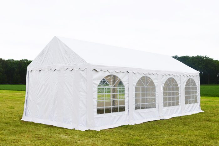 Partytent 3x8 Premium brandvertragend PVC - Wit