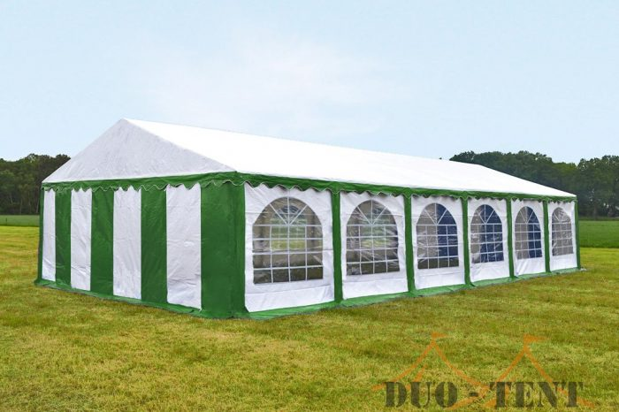 Partytent 5x12 Premium brandvertragend PVC - Groen / wit
