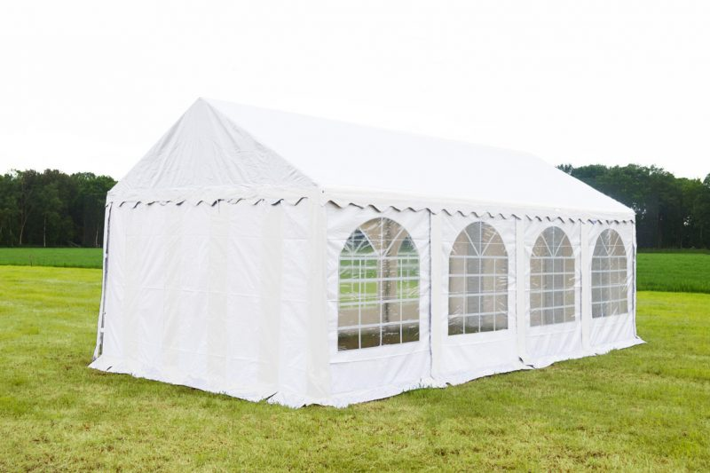 Partytent 4x8 professional brandvertragend PVC - Wit